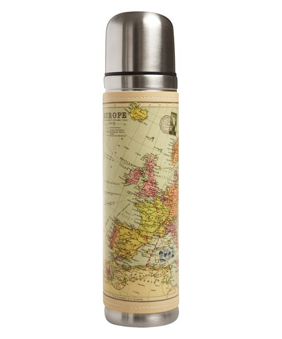 Multicolour Map Drinks Flask