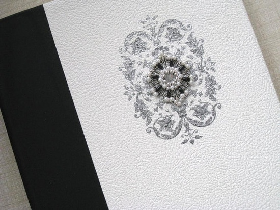 Traditional Black and White Wedding Photo Album with by Daisyblu, $65.00