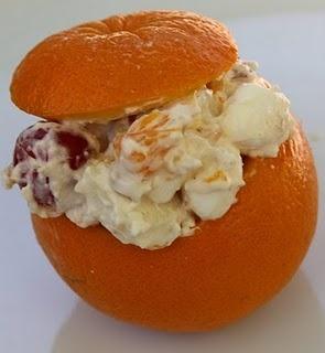 Fruit Salad in an Orange