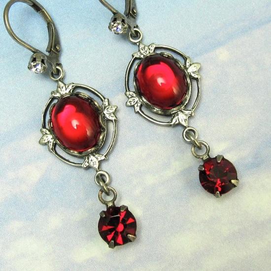 Christmas Jewelry  Vampire Drop Earrings by NicolettesJewelry, $20.00