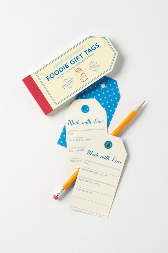 Gourmet Gifting Tags / Anthropologie.com #gift #entertaining