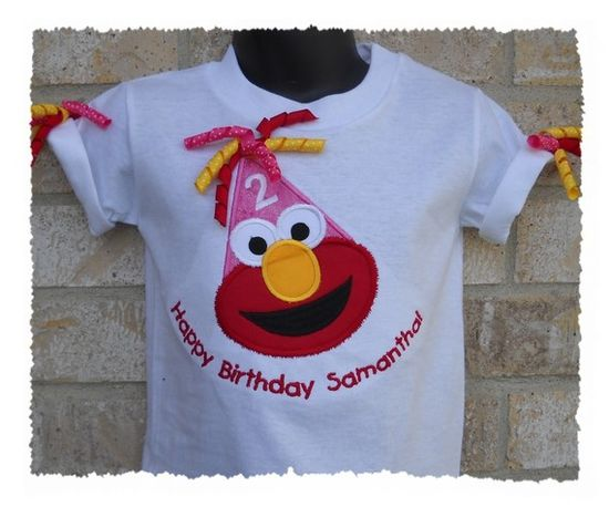 cute elmo birthday shirt!
