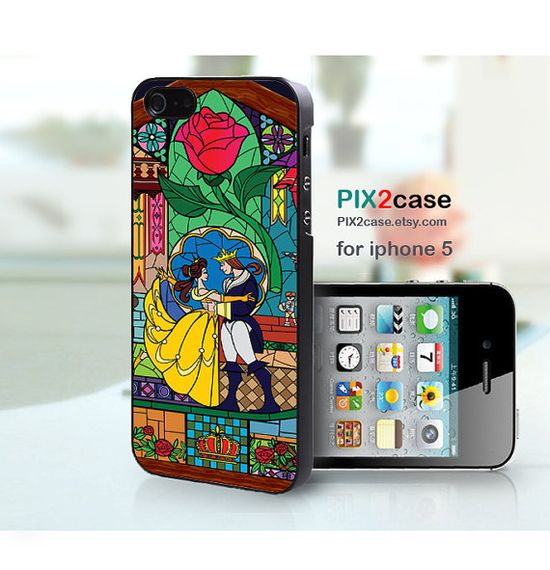iPhone 5 Case, Beauty and the Beast, iPhone5 Cover, Disney iPhone Case, iPhone Hard Case, iPhone Silicone Case