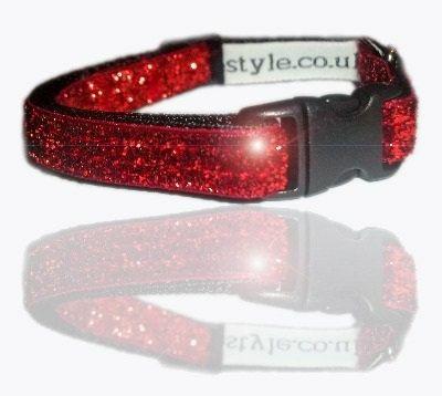 Ruby Red Slipper glitter small dog puppy collar by zukiestyle, £8.00