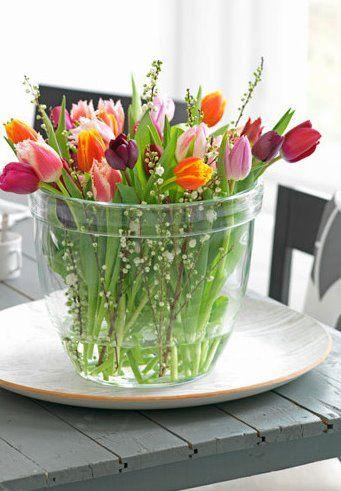 I love fresh flowers in my home