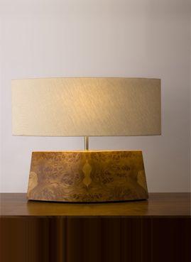 wood & linen lamp.