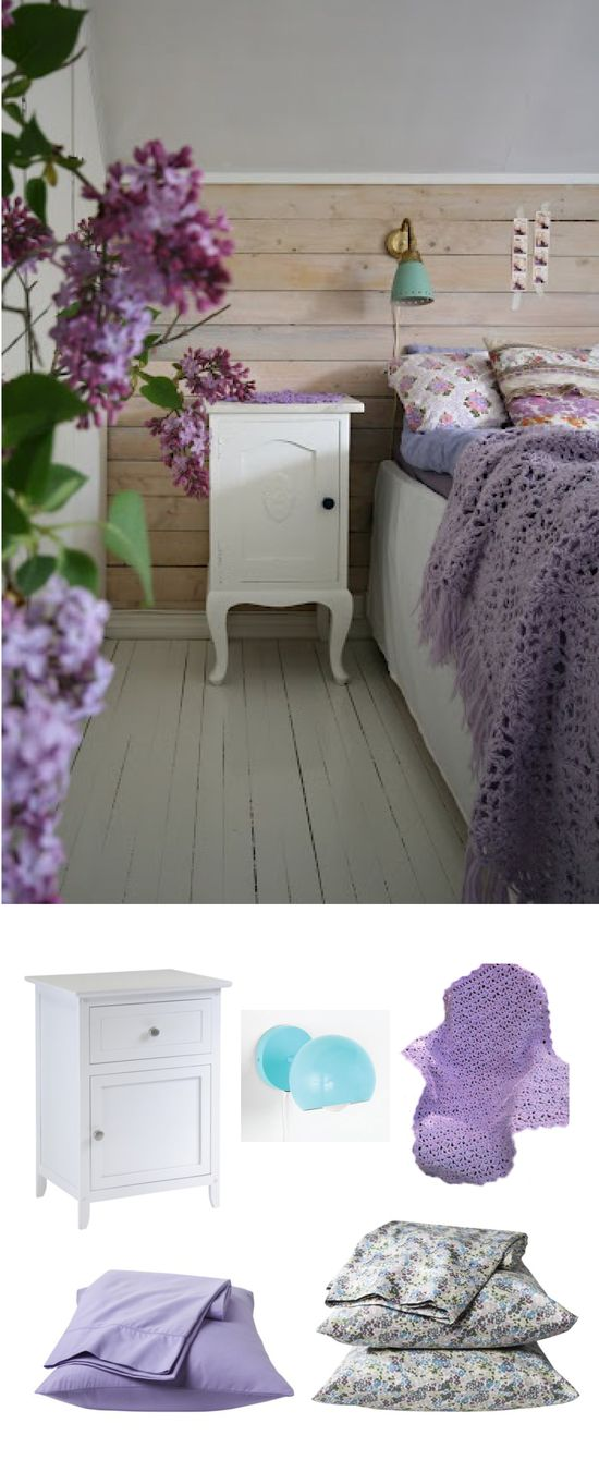 #colorfridays #decor #design #bedroom #lilac #floral