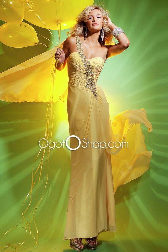 One Shoulder Celebrity Dress