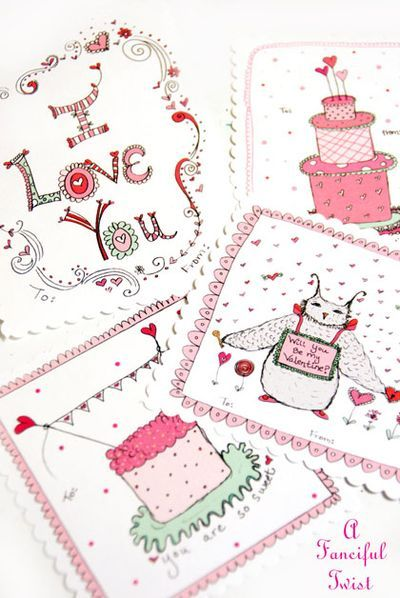 Valentine Printables @A Fanciful Twist