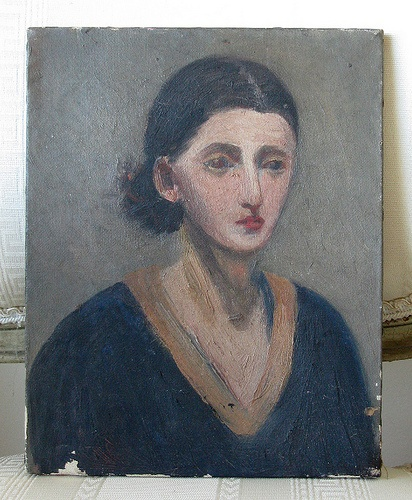 French lady oil painting