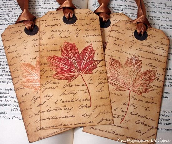 leafy gift tags