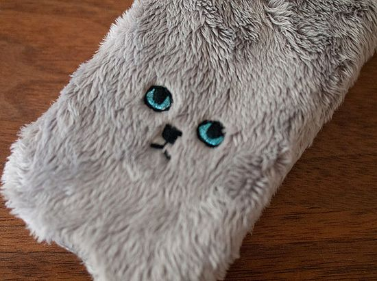 Cat iPhone Cover for iPhone5 Grey eyes are Blue by FGMstore