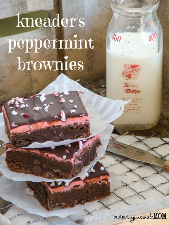 Kneaders Peppermint Brownies www.budgetgourmet... #brownies #dessert #peppermint