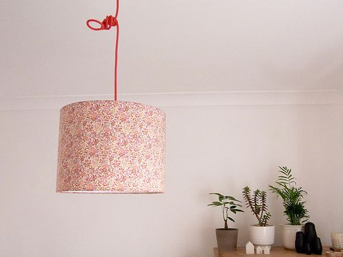 november 2011 /lampshade project/ do it yourself, all you need is a lampshade kit, cutter, and the fabric of your choice
