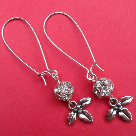 DECK THE HALLS earrings on French wires. $8.00.  Love these for holiday gifts.  www.etsy.com/...