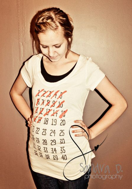 Cute!      Weeks pregnant shirt. Would be cute to take a picture each week and see your progress!
