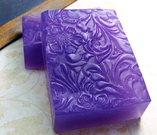 """Impressions in Lavender""  Handmade soap"