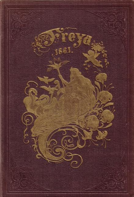 Vintage Book Cover, 'Freya', 1863