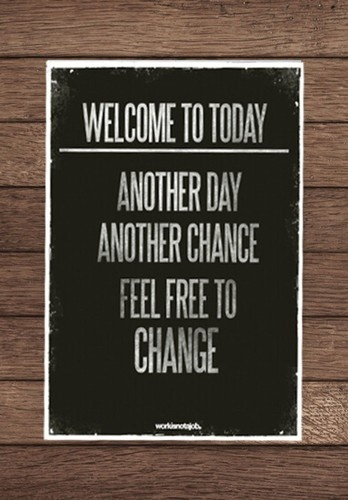 Every day is a new opportunity to start over. New Goal: To change one single thing (no matter how small) every. single. day. All of those little changes add up!