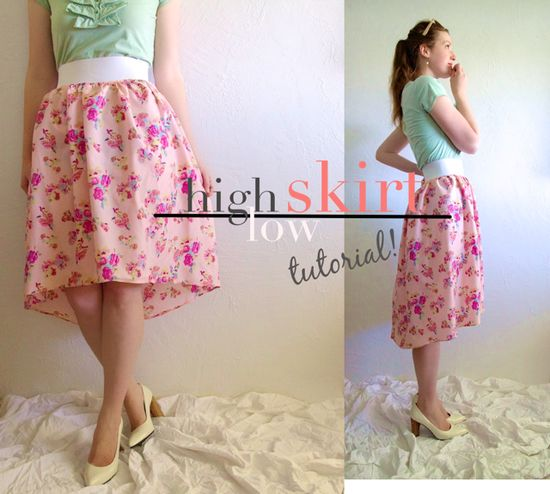 Subtle High-Low Skirt Tutorial-from Skirt or from Scratch!
