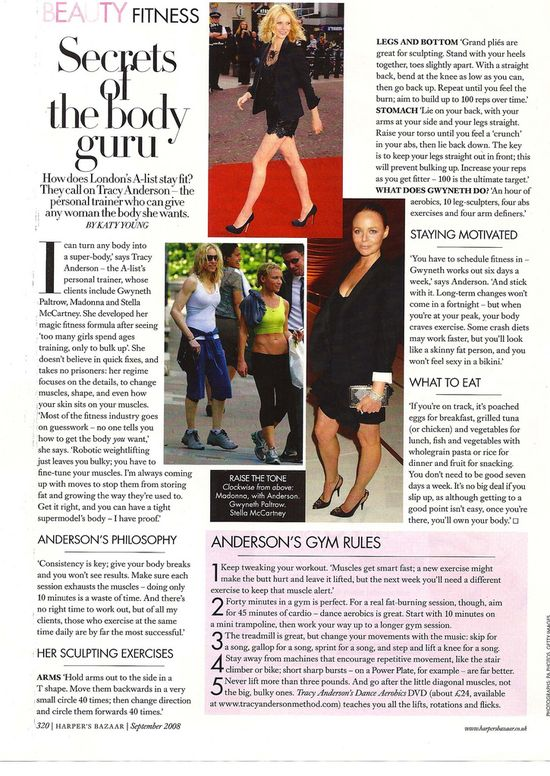 Tracy Anderson Article