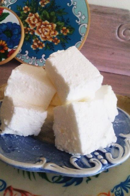 homemade lemon marshmallows