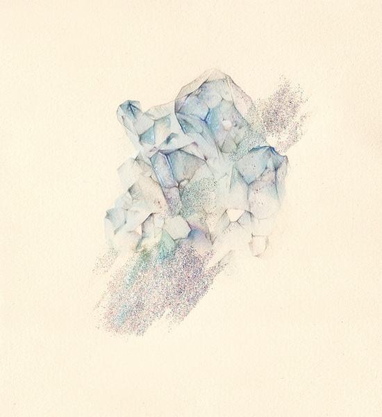 #mineral #glitter #illustration