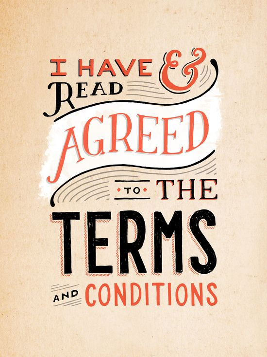 If the Terms & Conditions looked like this...I'd always read them!