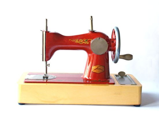 Vintage sewing machine  toy by sovietvintage on Etsy, $42.00