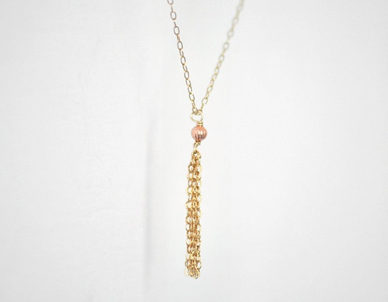 gold tassel necklace from edor jewelry