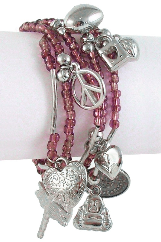 Different type of charm bracelet.  Cute!