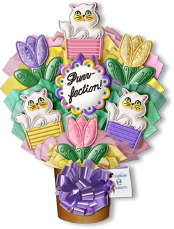 Purr-fection Hand Decorated Cookie Bouquet