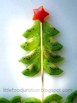 LittleFoodJunctionkiwitree     yummy kiwi Christmas tree!