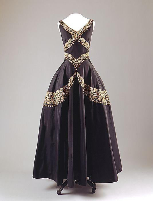 Mainbocher 1930s vintage evening dress
