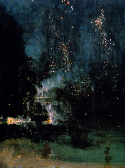 Nocturne in Black and Gold: The Falling Rocket by James Abbott McNeill Whistler 1875