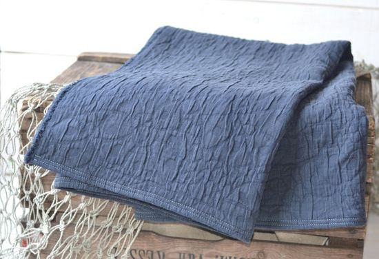 ECO FRIENDLY  French country  Blanket / Natural dark by ikabags >> Oh, this is so lovely!!