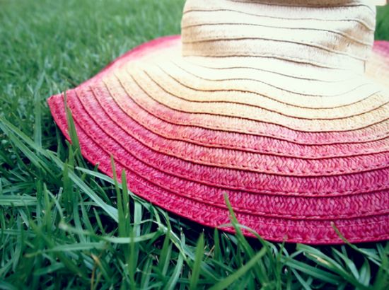 Ombre sun hat #DIY