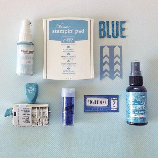 #scrapbooking moodboard - blue