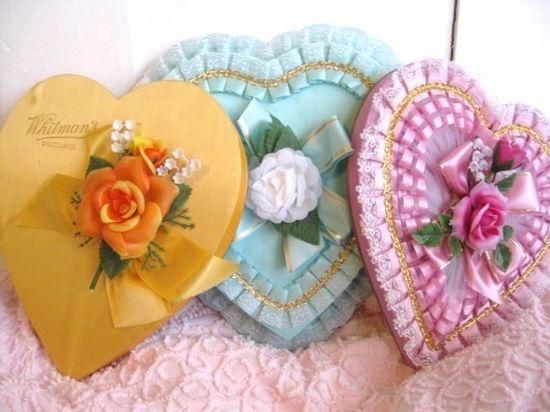vintage Valentine candy #Romantic Valentine