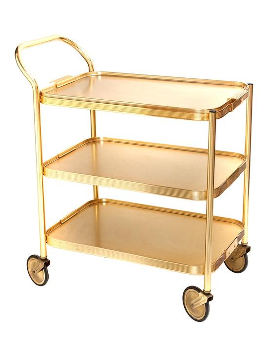 Vintage Gold Bar Cart