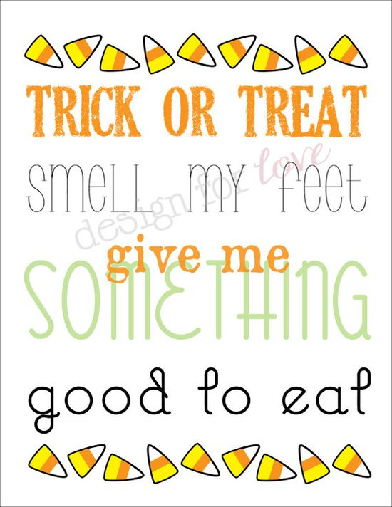 "Halloween ""Trick or Treat"" - Printable File"