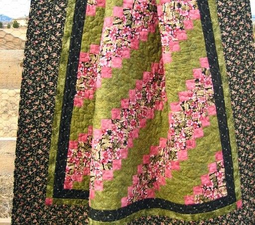 Flowers in my Garden Quilt - Handmade quilt, Wall quilt, Lap quilt, $170.0
