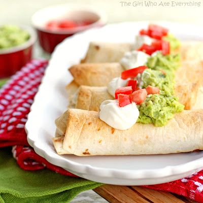 Baked Chicken Chimichangas ~ the crisp you love, minus the grease ~ The Girl Who Ate Everything