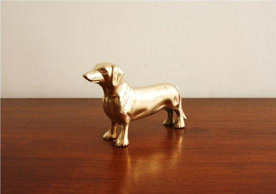 Brass Weiner Dog!