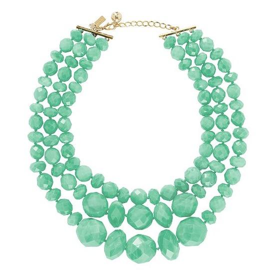 mint swirl necklace