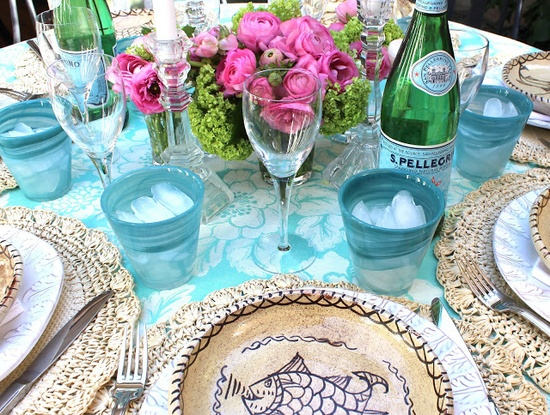 classic • casual • home: A Turquoise Birthday Party
