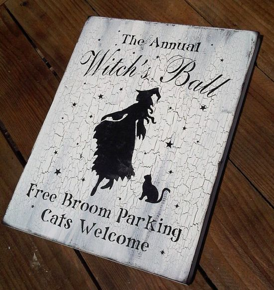 Witch Sign Halloween decor