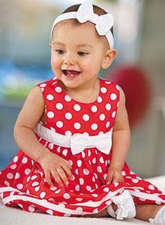 Adorable little girl in an adorable little dress