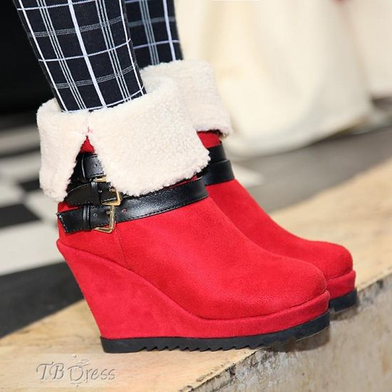 #tbdressreviews #Wedge #Fashion #Shoes #Red #tbdress.