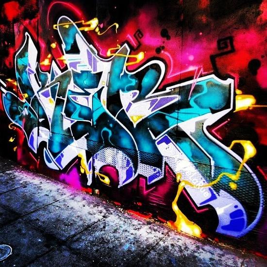 West Coast Style Graffiti. Awesome! #streetart #graffiti #art